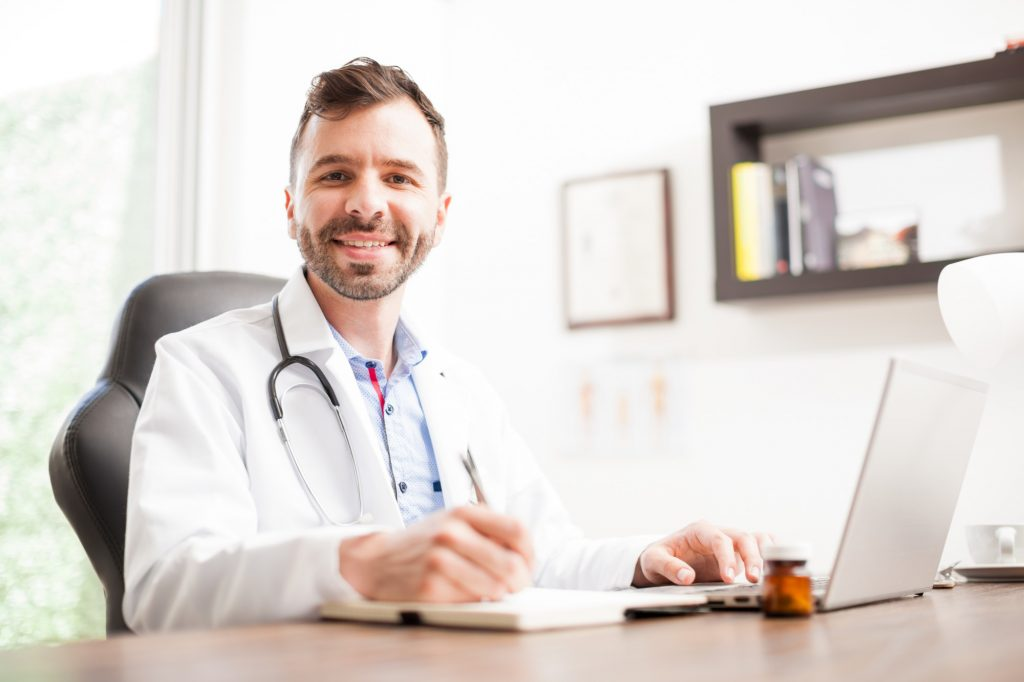 Medical Professional Working on a Laptop